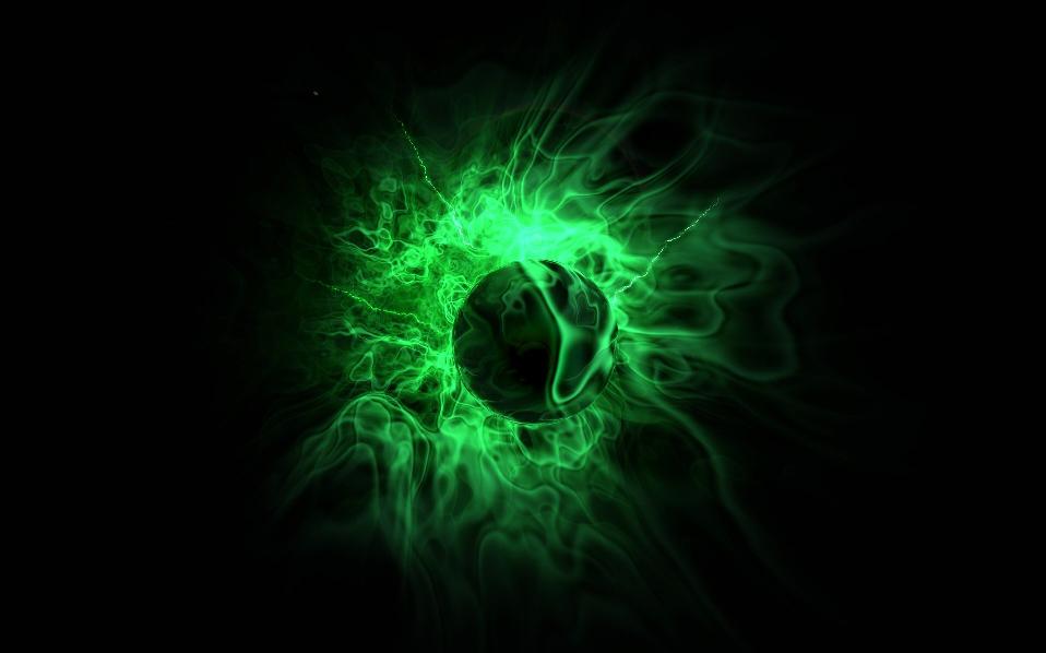 фото зелёный огонь